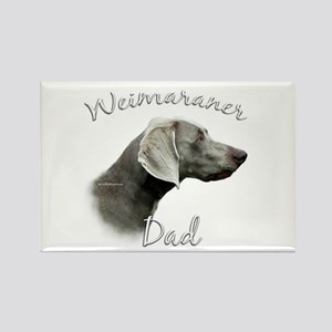 Weimaraner Dad2 Rectangle Magnet