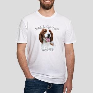 Welsh Springer Mom2 Fitted T-Shirt