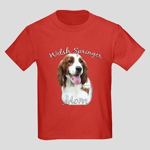 Welsh Springer Mom2 Kids Dark T-Shirt