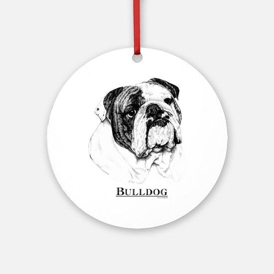 Bulldog Dog Ornament (Round)