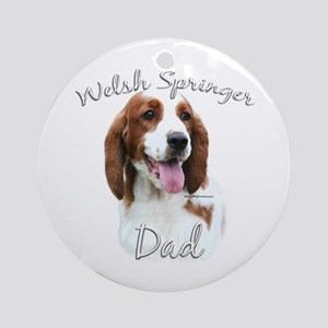 Welsh Springer Dad2 Ornament (Round)