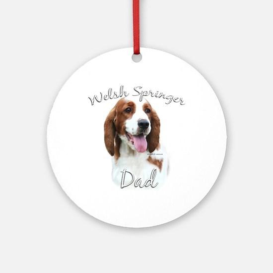 Welsh Springer Dad2 Ornament (Round)