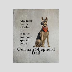 German Shepherd Dad Throw Blanket