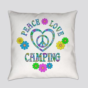 Peace Love Camping Everyday Pillow
