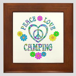 Peace Love Camping Framed Tile