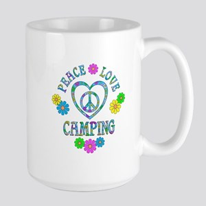 Peace Love Camping Large Mug