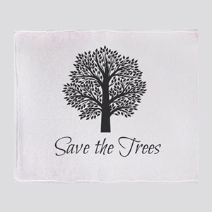 Save the Trees! Throw Blanket