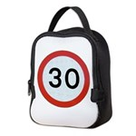 Speed sign - 30 Neoprene Lunch Bag