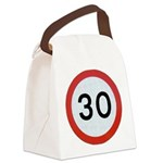 Speed sign - 30 Canvas Lunch Bag