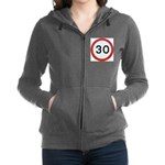 Speed sign - 30 Women's Zip Hoodie