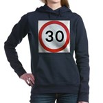 Speed sign - 30 Women's Hooded Sweatshirt
