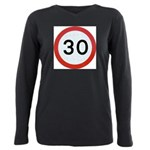 Speed sign - 30 Plus Size Long Sleeve Tee