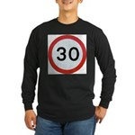 Speed sign - 30 Long Sleeve T-Shirt
