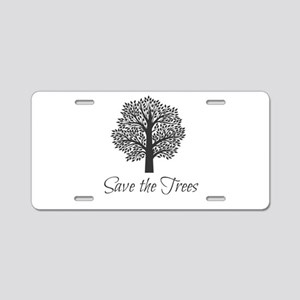 Save the Trees! Aluminum License Plate