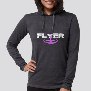 Pink Cheerleader Flyer Long Sleeve T-Shirt