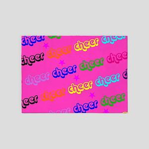 Pink Cheerleader 5'x7'Area Rug
