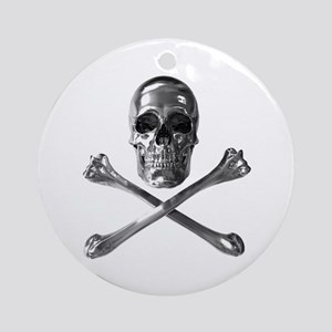Jolly Roger Skull Round Ornament