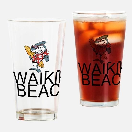 Waikiki Beach Drinking Glass