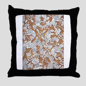 Medieval Motif Throw Pillow