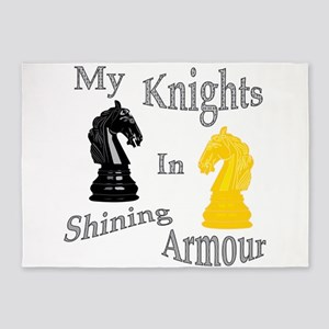 My Knights In Shining Armour 5'x7'Area Rug