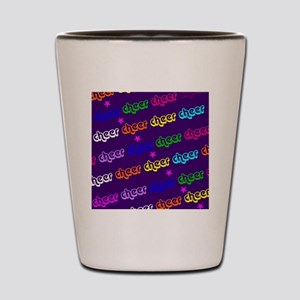 Purple Cheerleader Shot Glass