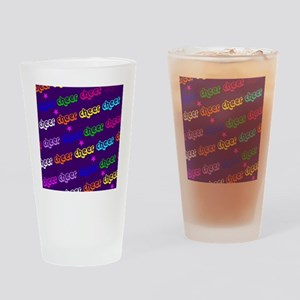 Purple Cheerleader Drinking Glass