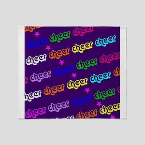 Purple Cheerleader Throw Blanket
