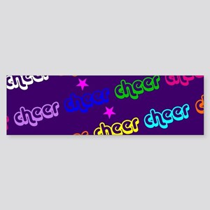 Purple Cheerleader Bumper Sticker