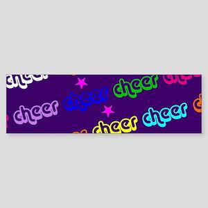 Purple Cheerleader Bumper Sticker