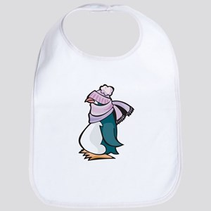 Silly Bundled Winter Penguin Bib