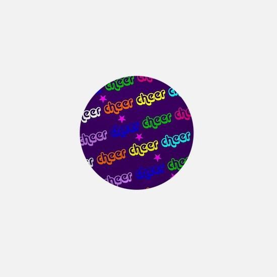 Purple Cheerleader Mini Button