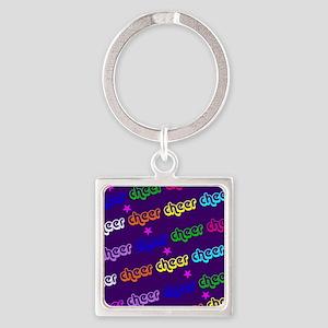 Purple Cheerleader Keychains