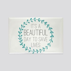 Greys Anatomy Its A Beautiful Day Rectangle Magnet