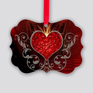 Wonderful heart with wings Ornament