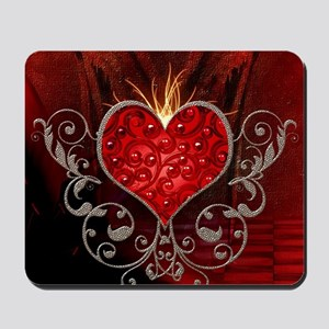 Wonderful heart with wings Mousepad