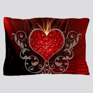 Wonderful heart with wings Pillow Case