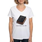 Jesus Dies Women's V-Neck T-Shirt