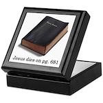 Jesus Dies Keepsake Box