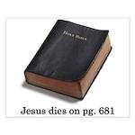 Jesus Dies Small Poster