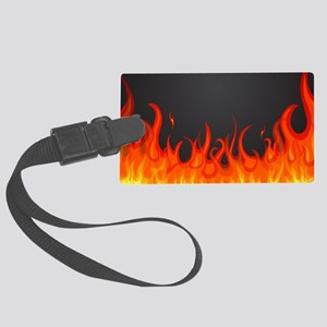Flames Luggage Tag