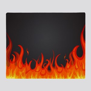 Flames Throw Blanket