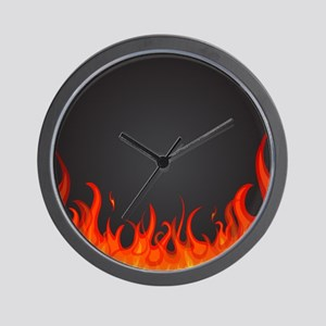 Flames Wall Clock