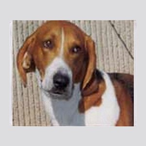 american foxhound Throw Blanket
