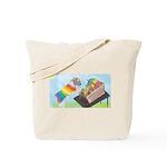 Carding Wool Tote Bag