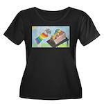 Carding Wool Plus Size T-Shirt