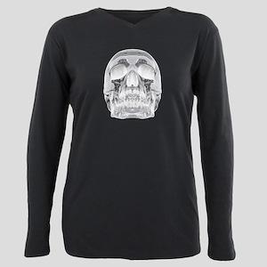 Crystal Skull Plus Size Long Sleeve Tee