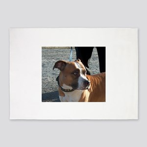 american staffordshire terrier 5'x7'Area Rug