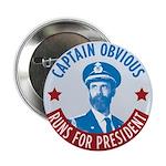 "Captain Obvious 2.25"" Button"