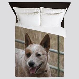 australian cattle dog red Queen Duvet