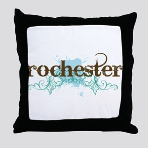 Rochester NY grunge Throw Pillow